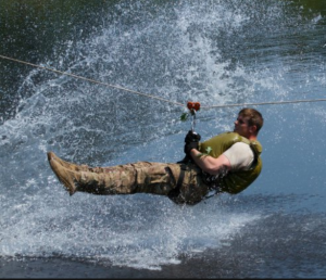 Zipline into Water